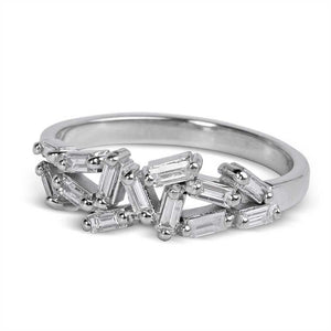 BAGUETTE DIAMOND HALF CHAOS ETERNITY BAND
