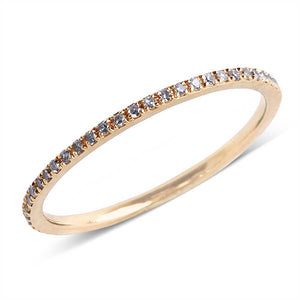 14K GOLD AND DIAMOND ETERNITY RINGS