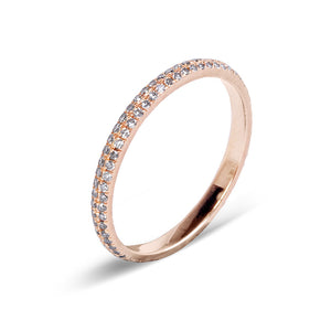 PAVÉ DIAMOND STACKING RING