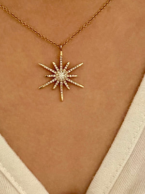 DIAMOND SUN STAR NECKLACE