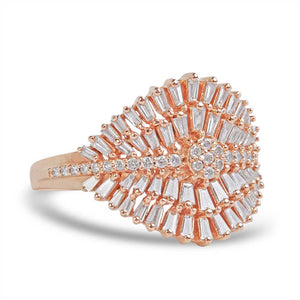 BAGUETTE DIAMOND BURST RING