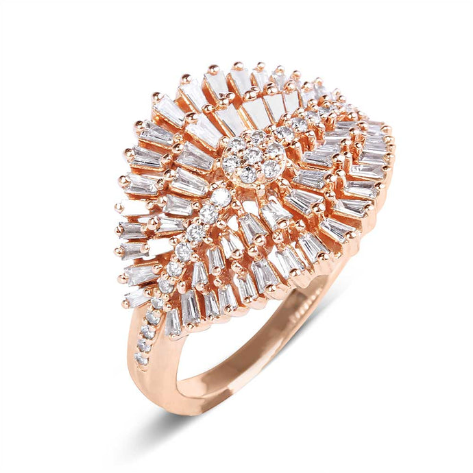 BAGUETTE DIAMOND DECO RING