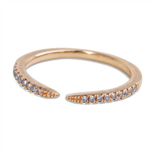 DIAMOND MIDI CLAW RING