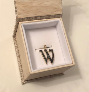 DIAMOND GOTHIC LETTER CHARMS