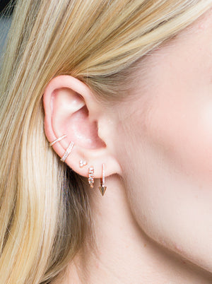IN STOCK - YELLOW GOLD CHRISTY EAR CUFF WITH DIAMONDS
