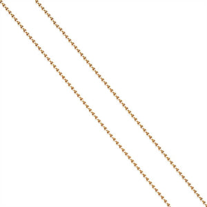 14K GOLD BEAD CHAIN