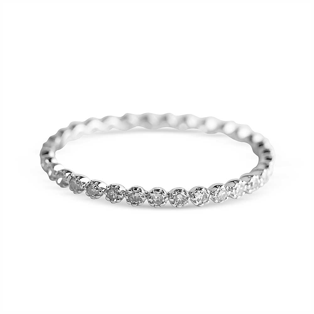 IN STOCK - WHITE GOLD ISABELLE FLOATING DIAMOND ETERNITY BAND SIZE 7
