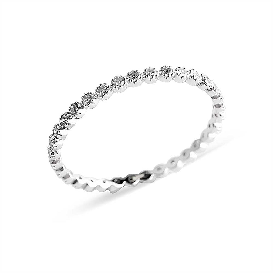 FLOATING DIAMOND ETERNITY RING