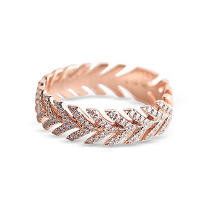 LAUREL PAVÉ DIAMOND ETERNITY RING