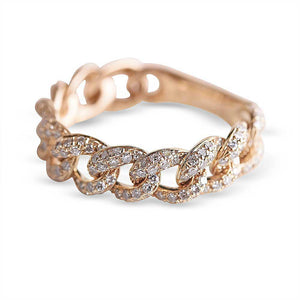 DIAMOND CHAINLINK RING