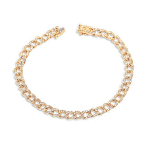 IN STOCK - SMALL PAVÉ DIAMOND CHAIN LINK BRACELET