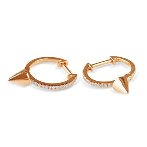 Diamond and Gold Spike Earring
