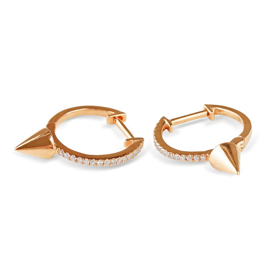 Diamond  and Gold Spike Earrings