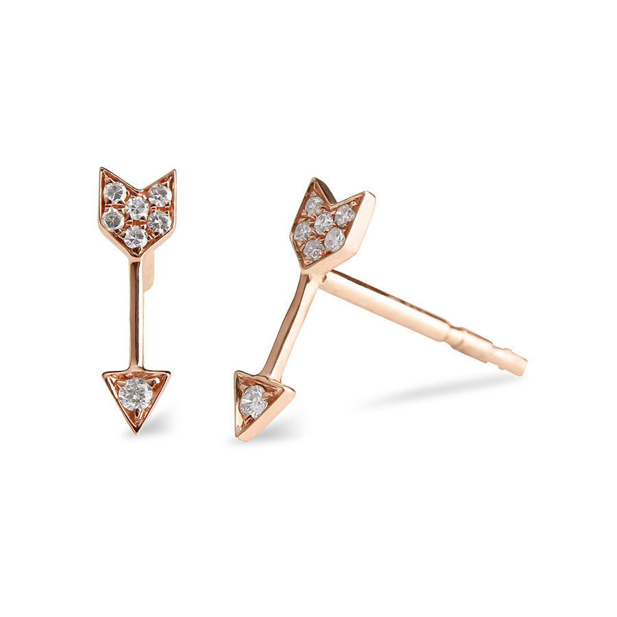 IN STOCK - DIAMOND ARROW STUD EARRINGS