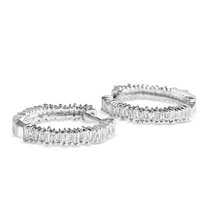 CHARLOTTE BAGUETTE DIAMOND HOOPS