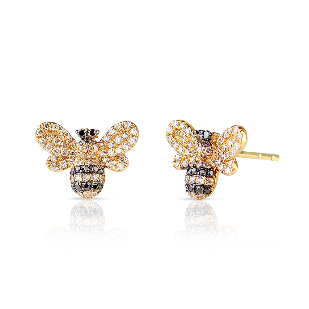 DIAMOND BUMBLE BEE STUDS