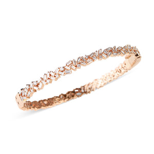 BAGUETTE AND BRIALLIANT DIAMOND CHAOS BRACELET
