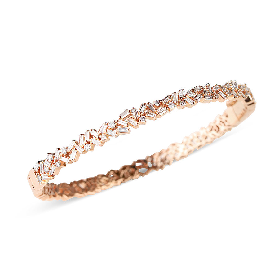 BAGUETTE AND BRIALLIANT DIAMOND BRACELET