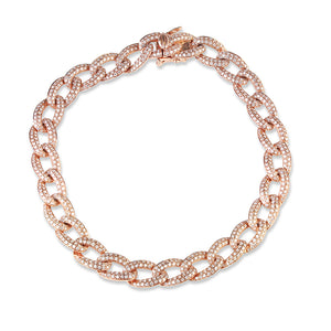 ROSE GOLD DIAMOND CUBAN LINK BRACELET