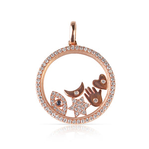 LUCKY DIAMOND CHARM LOCKET