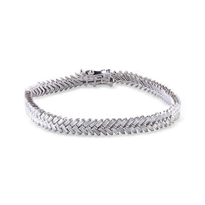 BAGUETTE DIAMOND CHEVRON BRACELET