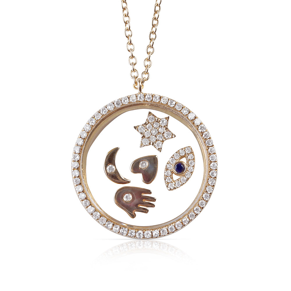 LUCKY DIAMOND CHARM NECKLACE