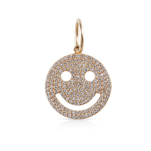 DIAMOND HAPPY EMOJI CHARM