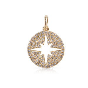 SMALL INSIDE OUT DIAMOND STAR CHARM