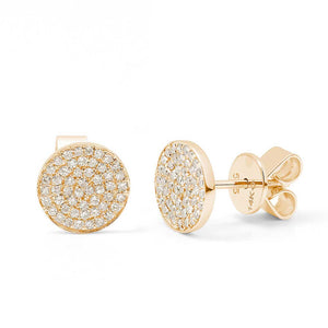 STACIA ROUND PAVÉ STUD EARRINGS