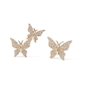 DIAMOND BUTTERFLY STUDS