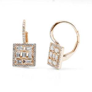 OSCAR EARRINGS WITH BAGUETTE AND PAVÉ DIAMONDS