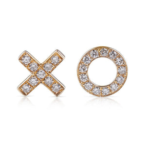 XO DIAMOND LOVE EARRINGS