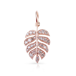 DIAMOND PALM LEAF CHARM