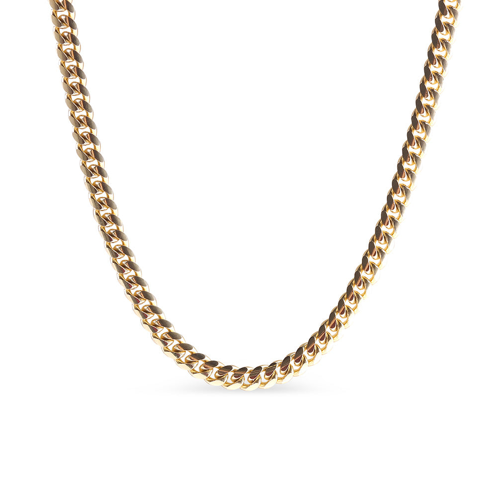 14K SOLID GOLD CURB CHAIN
