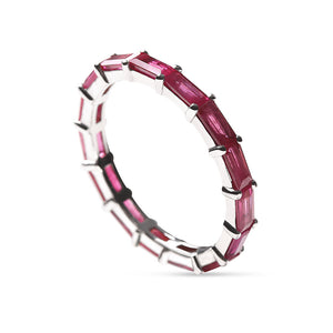 RED RUBY BAGUETTE ETERNITY BAND