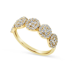 14K GOLD AND DIAMOND CROSBY RING