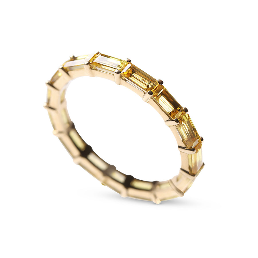 CITRINE BAGUETTE ETERNITY BAND