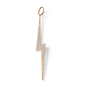 14K GOLD DIAMOND LIGHTNING BOLT CHARM