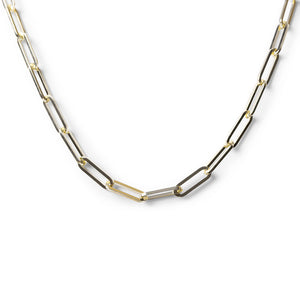 SOLID GOLD MEDIUM PAPERCLIP CHAIN