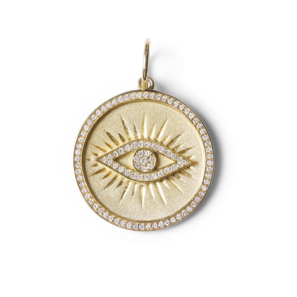 DIAMOND  EVIL EYE PROTECTION TALISMAN