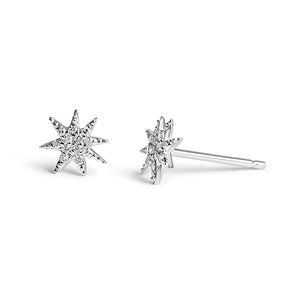 14K GOLD NORTH STAR DIAMOND STUDS