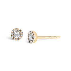 14K GOLD BRILLIANT CUT DIAMOND EARRINGS