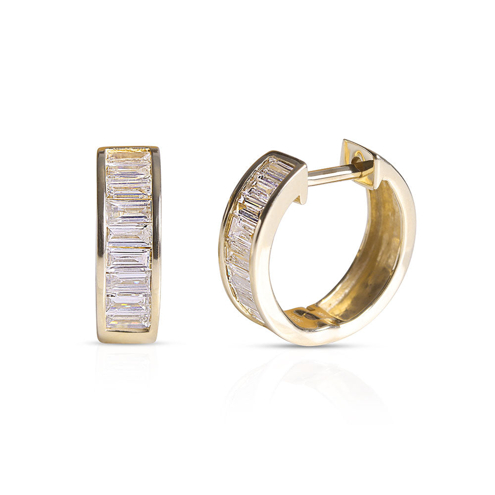 ANDREA BAGUETTE DIAMOND HOOPS