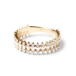 BAGUETTE AND BRILLIANT DIAMOND  RING