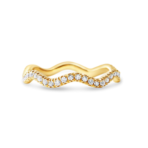 DIAMOND WAVE STACKING RING