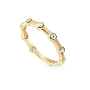 14K GOLD JENNIFER BEZEL SET DIAMOND RING