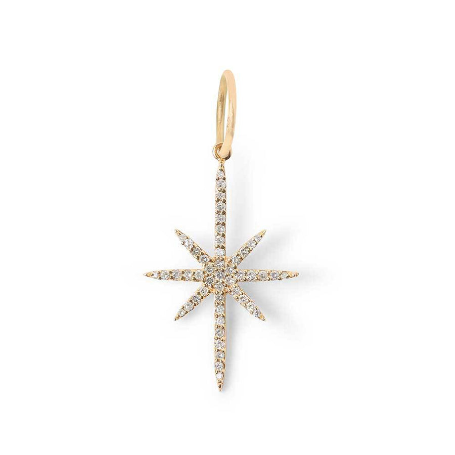 14K GOLD DIAMOND NORTH STAR CHARM