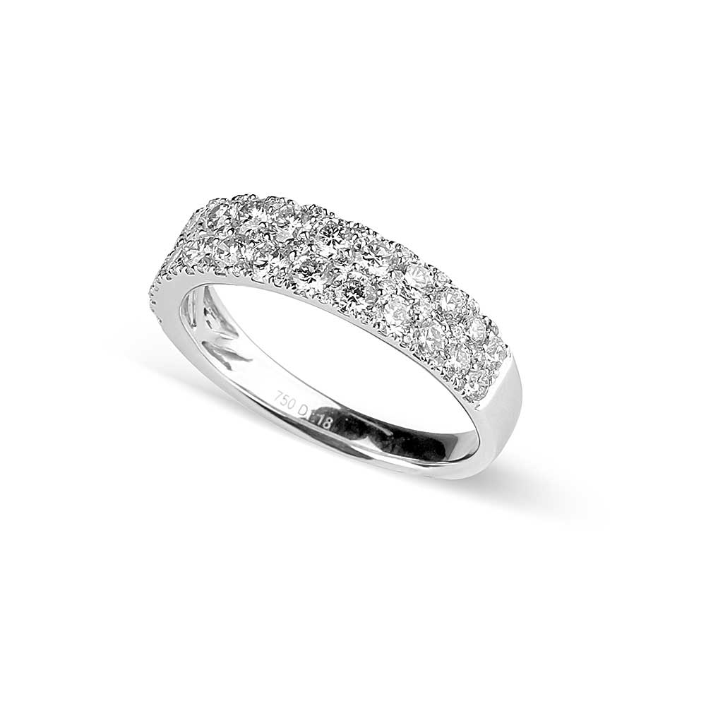 Wide Diamond Ring