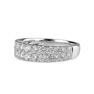 Wide Brilliant Diamond Band