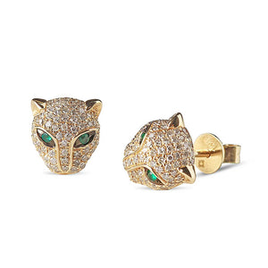 Diamond Panther Earrings